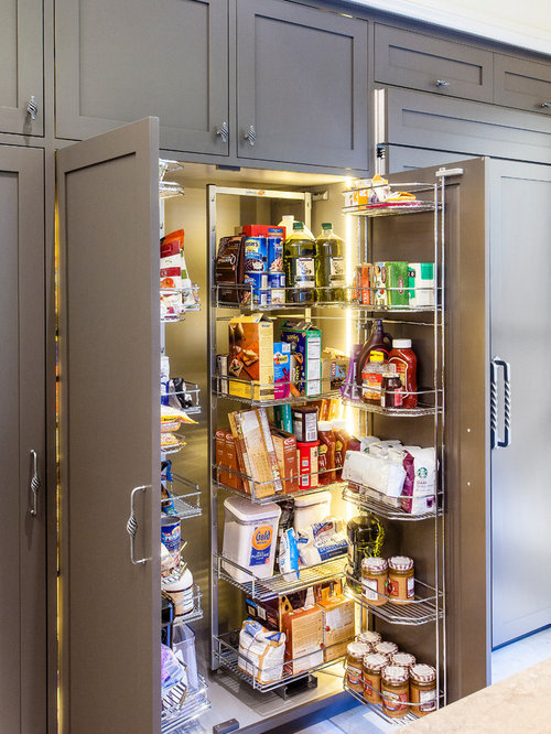 Built In Refrigerator With Pantry Cabinet | Houzz