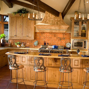 Inspiration for a mediterranean kitchen remodel in Orange County