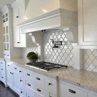 This is an example of an arts and crafts kitchen in Salt Lake City.