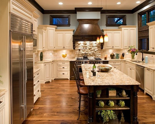 Travertine subway tile home design ideas renovations for Kitchen chicago