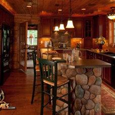 Rustic Kitchen by Golden Eagle Log Homes