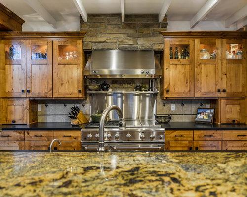 Rustic yellow kitchen design ideas remodel pictures houzz for Rustic yellow kitchen