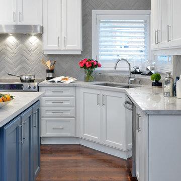 Early Gray Kitchen Backsplash