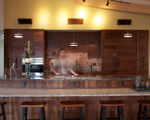 Houzz – Black Walnut Kitchen Cabinets