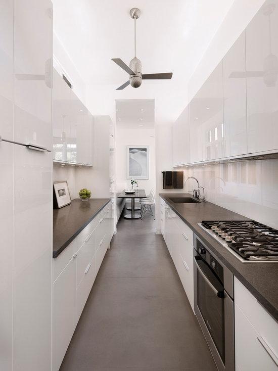 White Galley Kitchen white galley kitchen | houzz