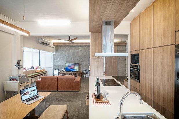 Industrial Kitchen by Obllique Pte Ltd