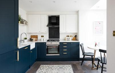 Le carrelage joue l'effet tapis en cuisine