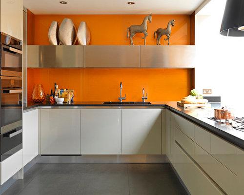 Https Www Houzz Co Uk Photos Kitchen Backsplash Color Orange