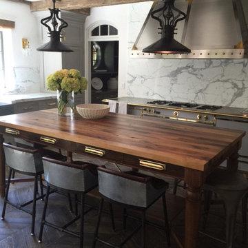 East Hampton, NY - Traditional - Reclaimed Chestnut Wood Table