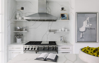 Black-and-White Kitchen Nods to Classic Chanel Style