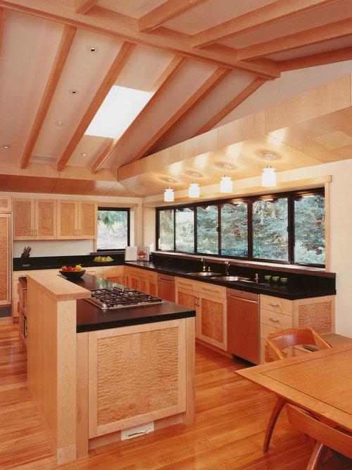 dark maple cabinets design ideas  remodel pictures  houzz, Kitchen design
