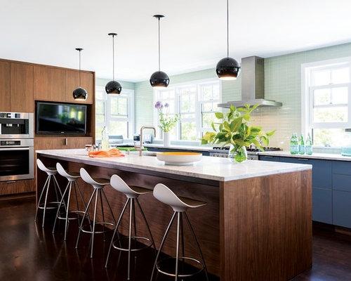 Light Blue Kitchen light blue kitchen cabinets | houzz