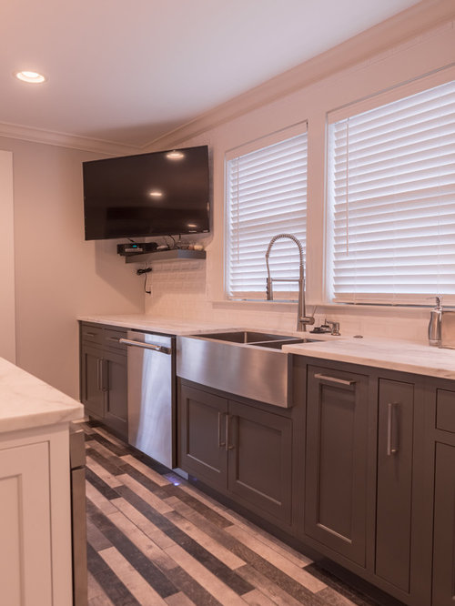 Pink kitchen design ideas renovations photos with brown - Pink kitchen cabinets ...