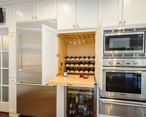 Wine Rack Above Refrigerator Ideas, Pictures, Remodel and Decor