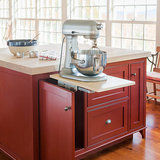 Easy access for the kitchen mixer with this pop up mixer stand