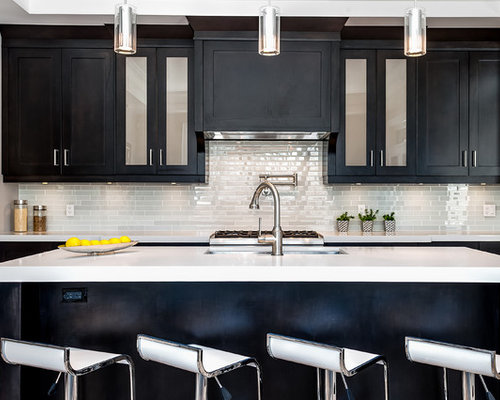 Kitchen Design Black Cabinets dark kitchen backsplash | houzz
