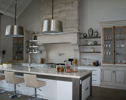 Open Shelving Range Hood Houzz