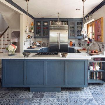 Eclectic Blue Kitchen