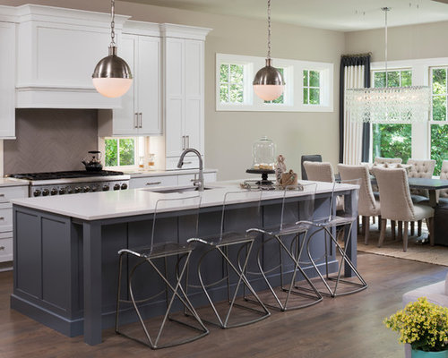 inspiration for a large transitional open concept kitchen remodel in minneapolis with an undermount sink - Large Kitchen Ideas