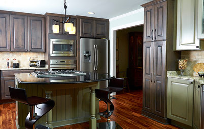 Kitchen of the Week: Rich Materials, Better Flow and a Garden View