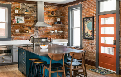 Kitchen of the Week: Exposed Brick and Eclectic Flair