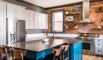Eclectic Kitchen and Living Space