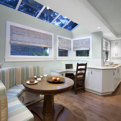 Inspiration for an eclectic eat-in kitchen remodel in Vancouver