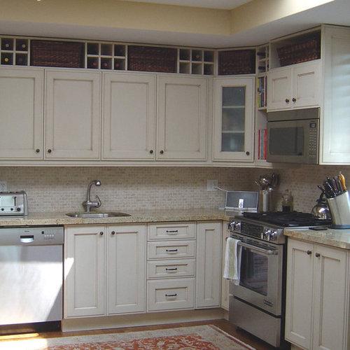 Kitchen Island Kickboard: Above Cabinet Storage