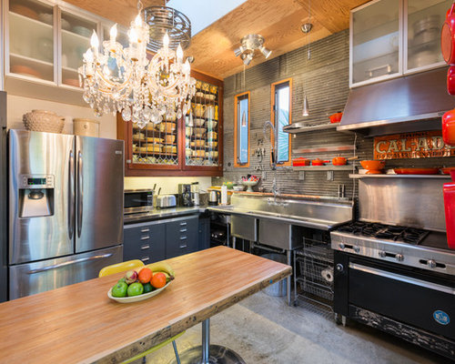 Eclectic Kitchens: Best Commercial Sink Design Ideas & Remodel Pictures