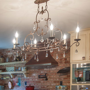 Eclectic kitchen, dining in kitchen