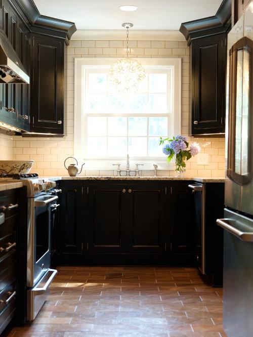 Mocha Grout Cream Subway Tile Home Design Ideas, Pictures ...