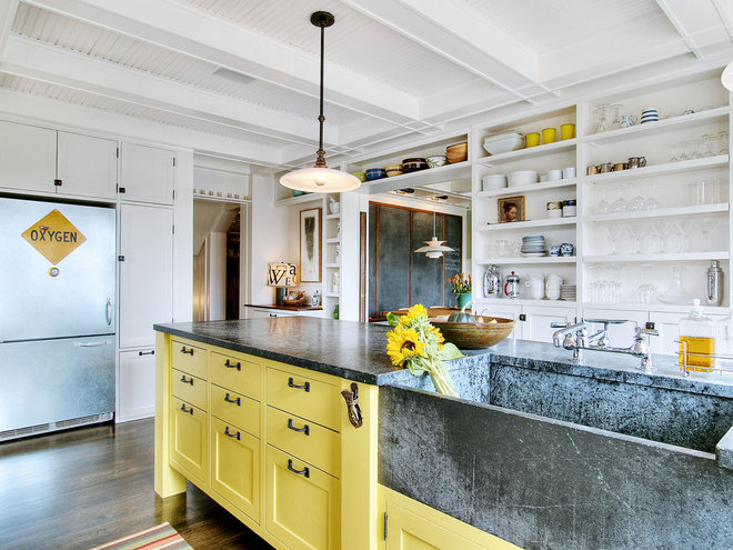 Eclectic Kitchen by J.A.S. Design-Build