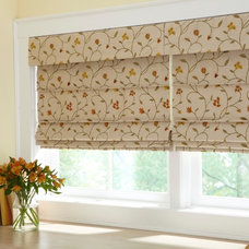 Eclectic Roman Shades by Lone Star Blinds
