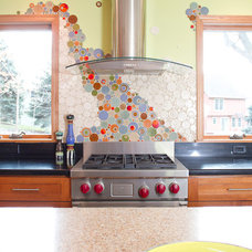 Eclectic Kitchen by Mercury Mosaics and Tile