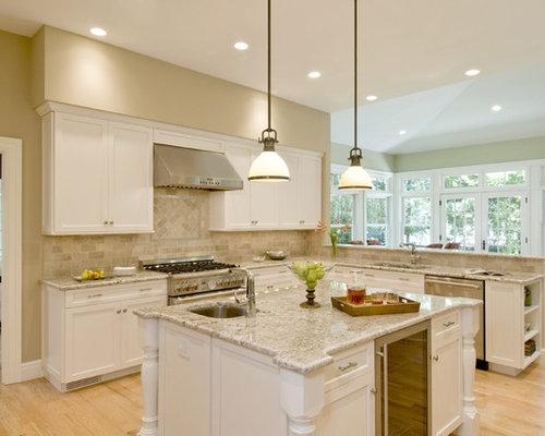 White Granite Kitchen Countertops Houzz