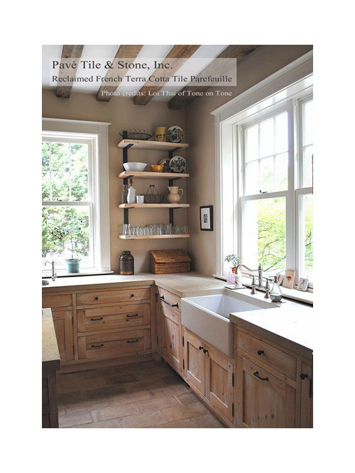 French Country Kitchen Tile Houzz - Country kitchen tiles
