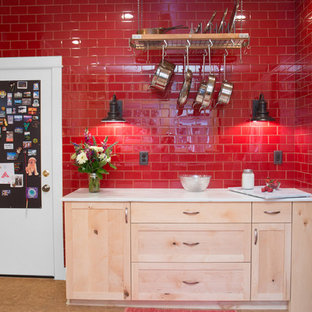 Eclectic Red Kitchen - Portland