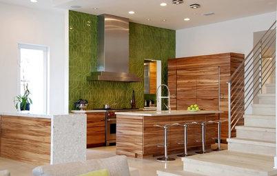Kitchen Color: 15 Fabulous Green Backsplashes