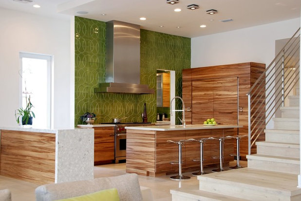 Kitchen Color Fabulous Green Backsplashes