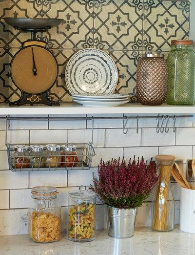 Rustic Kitchen by Cream & Black Interior Design