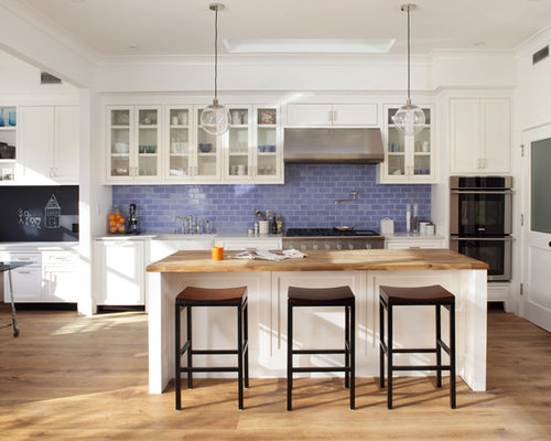 Backsplash Kitchen Blue blue backsplash | houzz
