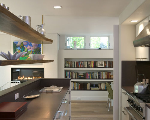 Modern Kitchen Ideas   Inspiration For A Modern Kitchen Remodel In Boston  With Open Cabinets And