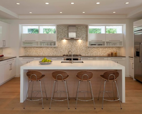 Cabinet under window home design ideas pictures remodel for Window under kitchen cabinets