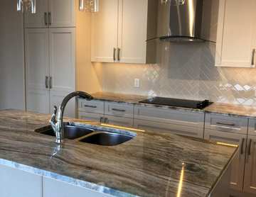 Edmonton Kitchen Countertops: Heritage Creek - Project for CAN-DER Construction