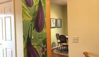 Eggplant Mural