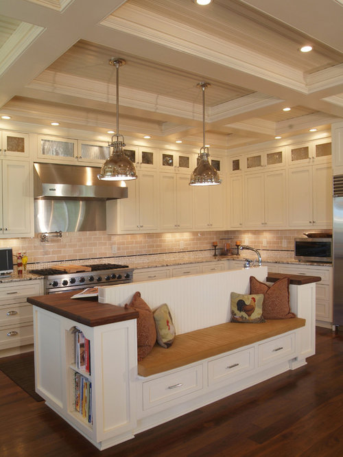 Gourmet kitchen houzz for Gourmet kitchen island