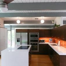 Modern Kitchen Eichler Kitchen Remodel with Painted Glass Backsplash
