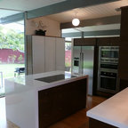 how to design a modern kitchen eichler kitchen remodel with painted glass backsplash 8620
