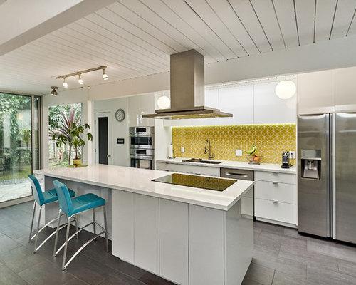 Midcentury Modern Kitchen Appliance   1950s Gray Floor Kitchen Photo In San  Francisco With An Undermount