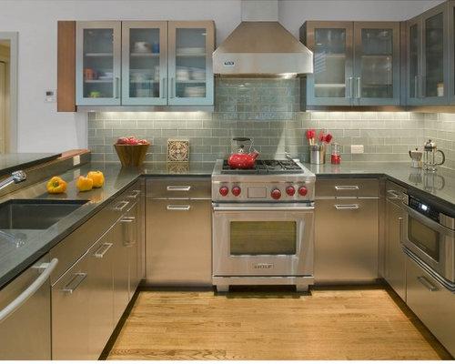 glass subway tile backsplash home design ideas pictures